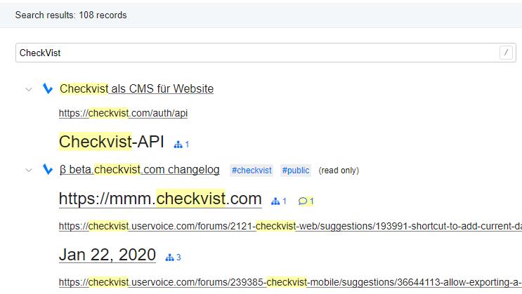 2021-02-12 09_54_20-Search for 'CheckVist' - Checkvist - Vivaldi